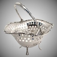 Swing Handle Basket Towle Sterling Silver