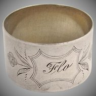 Napkin Ring 1890 Coin Silver