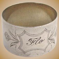 Napkin Ring 1890 Coin Silver