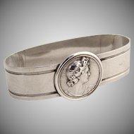 Medallion Napkin Ring 1870 Coin Silver