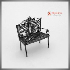 Miniature Filigree Bench 1940 Sterling Silver