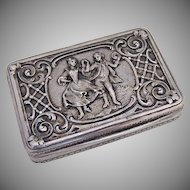 Dancing Couple Cigarette Case 1900 Pest 800 Silver