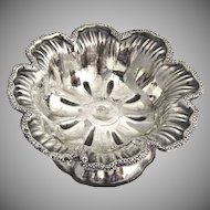 Ornate Open Salt Dish 1866 Moscow Russian 84 Standard Silver