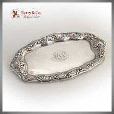 Ornate Cherub Face Dresser Tray Gorham 1900 Sterling Silver