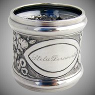 Floral Repousse Napkin Ring Gorham Sterling Silver