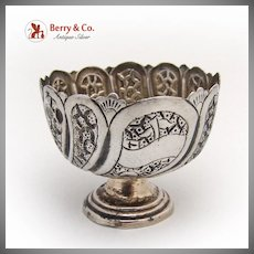 Persian Open Salt Dish 1860 Sterling Silver