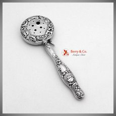 Cupid Cherub Baby Rattle 1890  Sterling Silver