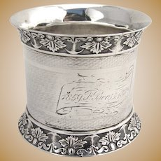 Aesthetic Napkin Ring Coin Silver