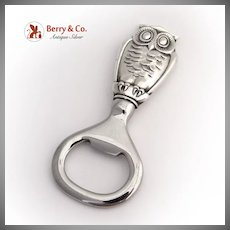 Owl Bottle Opener Gorham Sterling Silver