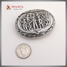 Musketeers Dutch Pill Box  Sterling Silver