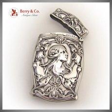 Art Nouveau Match Safe Box Gorham 1910 Sterling Silver