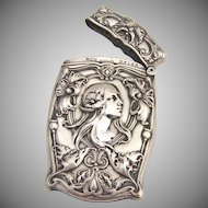 Art Nouveau Match Safe Box Gorham 1910 Sterling Silver