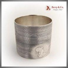 Medallion Napkin Ring 1890 Sterling Silver