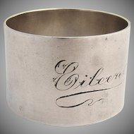Napkin Ring 1920 Sterling Silver