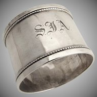 English napkin Ring 1920 Sterling Silver