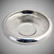Hand Made Hand Hammered Center Piece Bowl Sterling Silver Shreve 1930