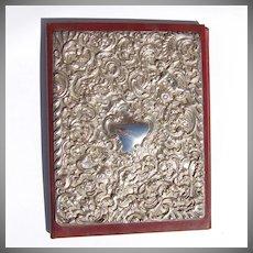 Ornate Figural Cupid Floral Scroll Folder Sterling Silver 1993