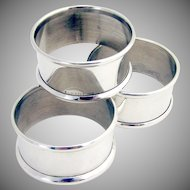 Napkin Ring Sterling Silver B And M 1930 3 Available