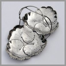 Sectional Double Leaf Serving Dish Sterling Silver Reed Barton 1932