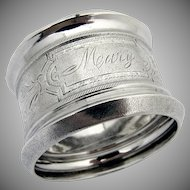 Aesthetic Napkin Ring Coin Silver Wood Hughes 1880