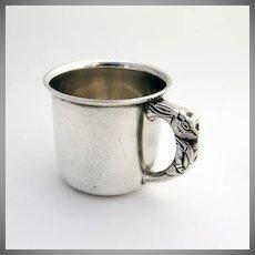 Rabbit Handle Baby Cup Saart Sterling Silver