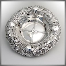 Ornate Art Nouveau Large Serving Bowl Sterling Silver Gorham 1900