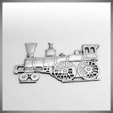 Christmas Locomotive Christmas Ornament Sterling Silver Gorham 1975 American Heritage