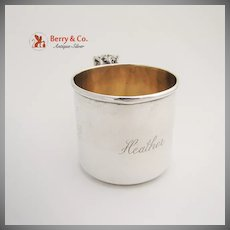 Grand Baroque Baby Cup Sterling Silver Wallace 1941
