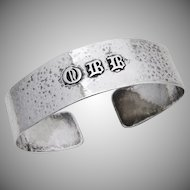 Arts And Crafts Cuff Bracelet Sterling Silver 1930