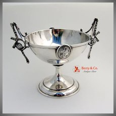 Medallion Open Sugar Bowl Sterling Silver Wood And Hughes 1870