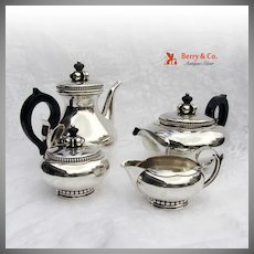 Amazing La Paglia Four Piece Tea And Coffee Set Sterling Silver International 1952
