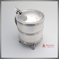 Amazing Lotus Lidded Tankard Condensed Milk Container Sterling Silver Gorham 1865