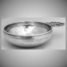 Kalo Porringer Arts & Crafts Hammered hand Made 1920 Sterling Silver