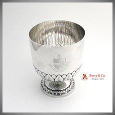 Antique Scottish Crest Goblet Chalice Cup Sterling Silver 1890