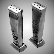 Classic Rose Salt And Pepper Set Sterling Silver Reed Barton 1954