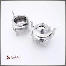 Japanese Figural Pot Salt Cellar And Pepper Shaker 950 Silver 1930
