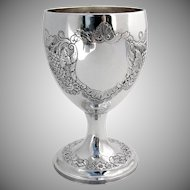 Georgian Irish Large Goblet Sterling Silver Gustavus Byrne 1808