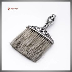 Art Nouveau Maiden Clothes Brush Sterling Silver Horse Hair 1900