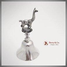 Peruvian Lama Finial Bell Sterling Silver