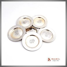 Nut Cups Set of Six Sterling Silver Gorham 1880