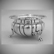 Open Master Salt Dish Large Gadroon Howard & Co 1890 Sterling Silver
