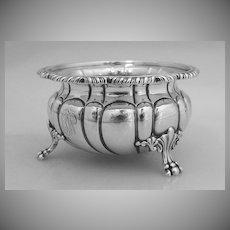 Open Master Salt Dish Large Gadroon Howard & Co 1890 Sterling Silver