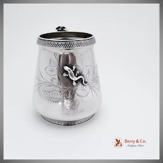 Lizard Cup or Mug Coin Silver Gorham 1868 Butterfly
