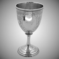 Engine Turned Goblet Coin Silver 1890