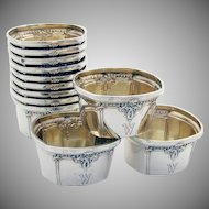 Trianon Nut Cups Or Open Salt Dishes Sterling Silver 12 Pieces International 1921