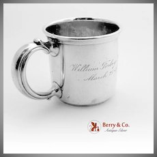 Scroll Handled Baby Cup Sterling Silver Reed And Barton 1924