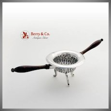 Spanish Brazier Cigar Lamp Sterling Silver Wood Late 18Th Century