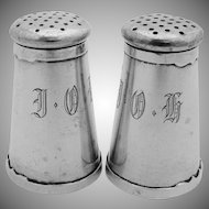 Arts And Crafts Salt Pepper Shaker Set Sterling Silver Shreve 1915