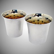 Shot Cups Sterling Silver Pair Stieff 1940