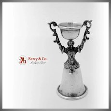 Figural Woman Wedding Cup Sterling Silver Reed Barton 1920